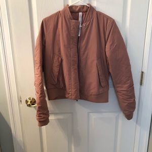 Lululemon Warm Two Ways Bomber Jacket - size 6